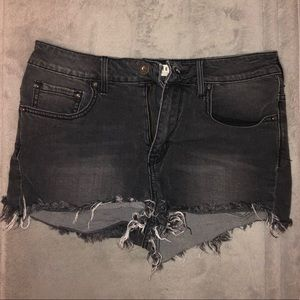 Bullhead High Waisted Jean Shorts